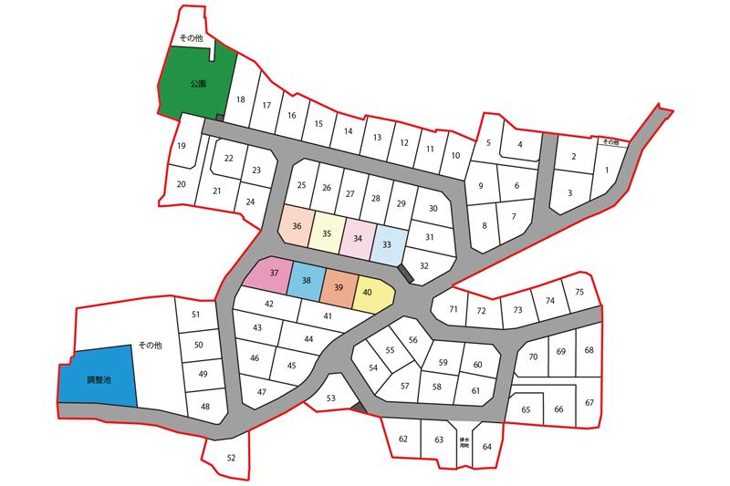 プライムスクエア富士今泉全体区画図