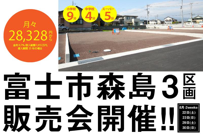 【あと3区画のみ!!】森島分譲地販売会